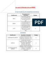 Criterios Para El Llenado de Un IPERC