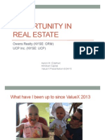 An Opportunity In Real Estate - ValueX Vail 2015