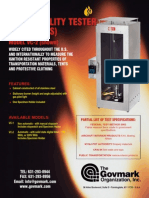 Data Sheet VC Vertical Flammability Testers