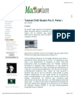 Tutorial DVD Studio Pro 3. Parte I
