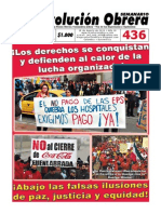 Semanario Revolución Obrera Edición No. 436