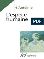 Antelme, Robert -L'espèce humaine-Gallimard (1978)