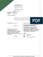 StemExpress filing 8-21-15 for preliminary injunction