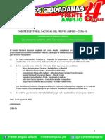COMUNICADO Nº 003-2015-CENA/FA