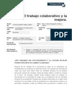 5.4 El Trabajo Colaborativo y La Mejora