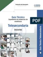 Guía Técnica de Evidencias Telesecundaria