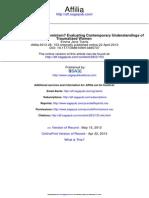 Trauma Theory Without Feminism? Evaluating Contemporary Understandings of Traumatized Women by Emma Jane Seris