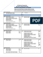 May 2016 Examination Schedule