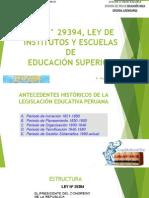 LEY N° 29394, LEY DE INSTITUTOS - TEMA 02