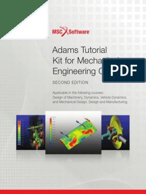 Adams-Tutorial-2nd-Edition_pt pdf | Simulation | Mechanical Engineering