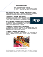 Tradiciones de Oaxaca