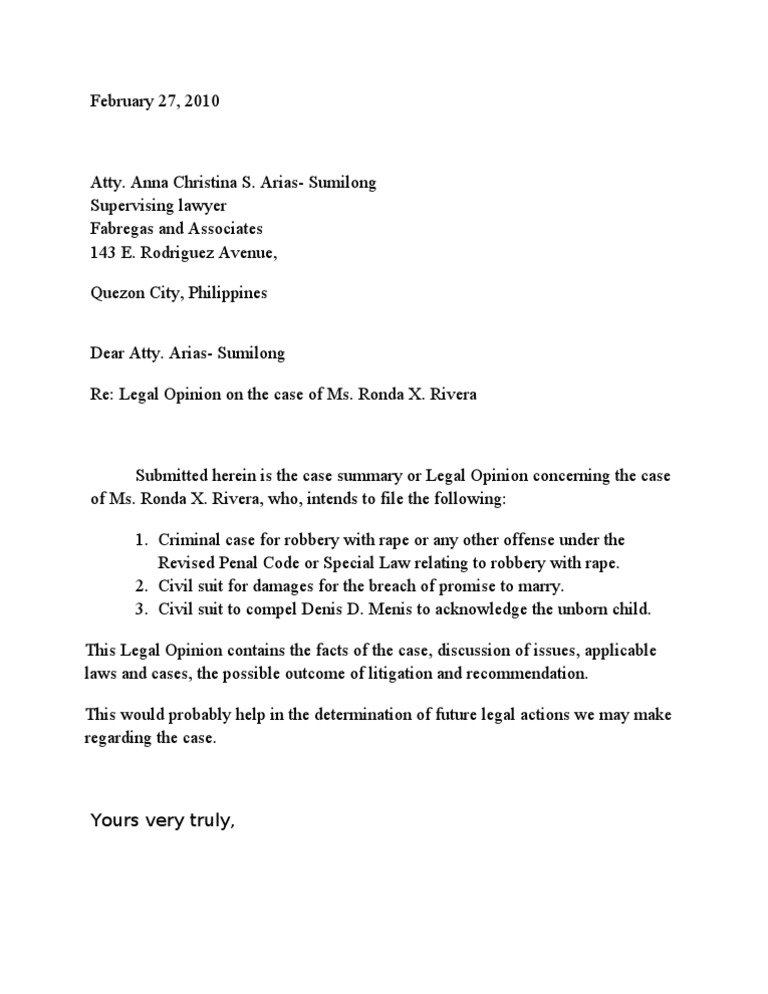 Cover letter for legal opinion altavistaventures Choice Image