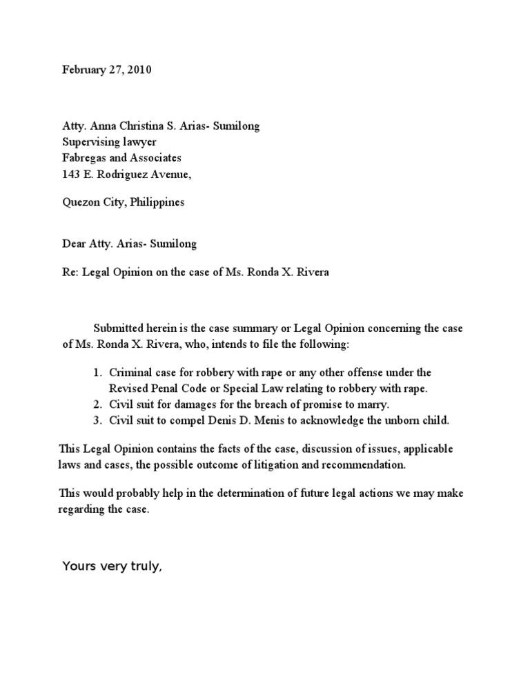 Cover letter for legal opinion altavistaventures Images