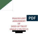 Fraudulent Assignment of Dot