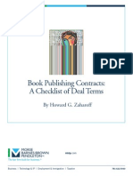 Book Publishing Contract Checklist