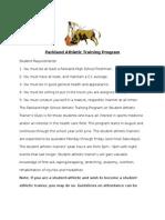 parkland athletic training program policies   procedures