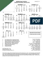 Meriden Schools 2015-2016 Calendar