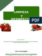 Limpieza y Desinfección de Alimentos