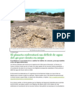 Un Jagüey El Planeta Enfrentara Un Deficit de Agua