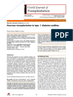 Pancreas Transplantation in Type II DM