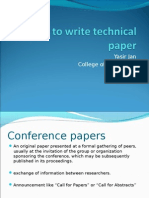 How to Write Technical Paper