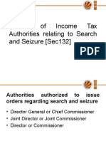 Powers of Income Tax Authorities Relating to Search