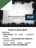 Chapter - 8 CENVAT Credit - Utilization