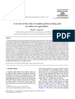 Engvild 2003 a Review of the Risks of Sudden Global Cooling and Its Effects on Agriculture