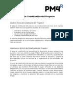 Acta de Constitucion de Proyecto - Guia