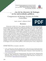 Competencias de los docentes de Biología de las Universidades públicas.