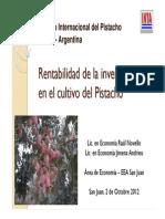 INTA- Rentabilidad de La Inversion en El Cultivo de Pistacho en San Juan - NOVELLO 2012 PISTACHO