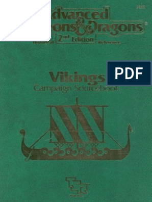 AD&D 2nd Ed - Viking Campaign (HR1) | Vikings | Danelaw