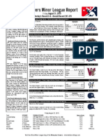 Minor League Report 15.08.21