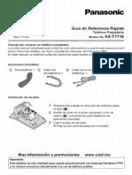 KX-T7716 Panasonic Manual Guia de Referencia Rapida