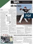 Oakville Newspaper Story on Emily Baxter 8-21-15