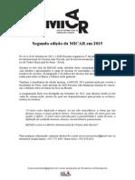 Comunicado - 2ª Edição Da MICAR