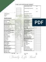 LB IncomeExpense Sheet - Fillable
