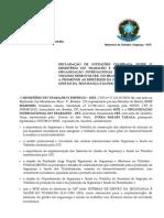 SGSST - Acordo OIT e MTE - 10/2005
