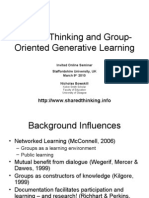 Shared Thinking and Group-Oriented Generative Learning