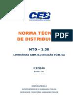 Ntd 3.38 - Luminarias Para Ilumincao Publica Edicao2r