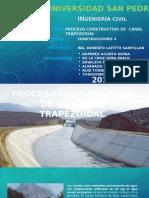 Proceso Constructivo de Un Canal Trapezoidal