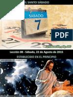 Lección 08 - El Santo Sábado