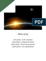 RENCONTRE DE MARS 2015