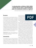 La Urbanización en México 2010-2030