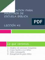 Capacitacion de Maestros_ Leccion 2_ 2010