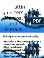 Formatting Letters, Memos, And E-mails