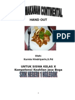 Hand Out Kontinental