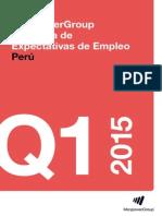 Encuesta de Expectativas de Empleo Perú 2015