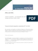 Alfaro, Juan Pablo - Antonio Somellera. Un Testimonio de Violencia Política en Tiempos de Rosas