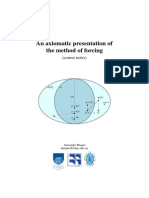 An Axiomatic Presentation of the Method of Forcing